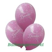 Motiv-Luftballons Danke, Rosa