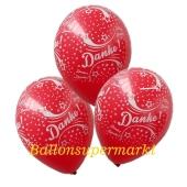 Motiv-Luftballons Danke, Rot