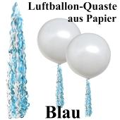 Ballonquaste aus Papier Blau