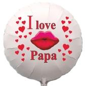 I love Papa. Luftballon in Rundform aus Folie mit Helium zum Vatertag