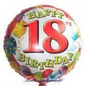 Folienballon-Luftballon aus Folie zum 18. Geburtstag, Happy 18TH Birthday