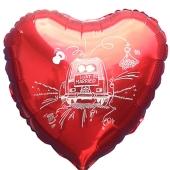 Luftballon-zur-Hochzeit-Just-Married-Hochzeitsauto-roter-Herzballon-aus-Folie