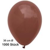Luftballons 30 cm, Braun, 1000 Stück
