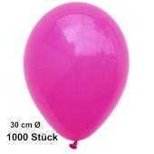 Luftballon Fuchsia, Pastell, gute Qualität, 1000 Stück