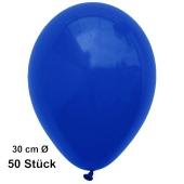 Luftballon Marineblau, Pastell, gute Qualität, 50 Stück