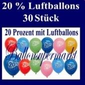 Luftballons 20 %, 30 Stück
