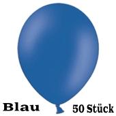 Luftballons 23 cm, Blau, 50 Stück