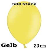 Luftballons 23 cm, Gelb, 500 Stück, günstig und preiswert