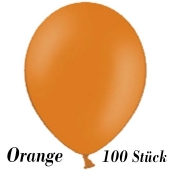 Luftballons 23 cm, Orange, 100 Stück