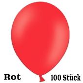 Luftballons 23 cm, Rot, 100 Stück
