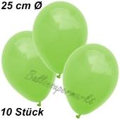 Luftballons 25 cm, Apfelgrün, 10 Stück
