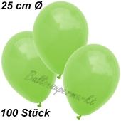 Luftballons 25 cm, Apfelgrün, 100 Stück