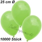 Luftballons 25 cm, Apfelgrün, 10000 Stück