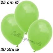 Luftballons 25 cm, Apfelgrün, 30 Stück