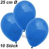 Luftballons 25 cm, Blau, 10 Stück