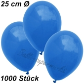 Luftballons 25 cm, Blau, 1000 Stück
