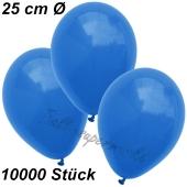 Luftballons 25 cm, Blau, 10000 Stück