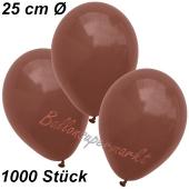 Luftballons 25 cm, Braun, 1000 Stück
