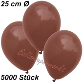 Luftballons 25 cm, Braun, 5000 Stück