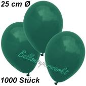 Luftballons 25 cm, Dunkelgrün, 1000 Stück