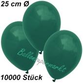 Luftballons 25 cm, Dunkelgrün, 10000 Stück