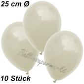 Luftballons 25 cm, Elfenbein, 10 Stück