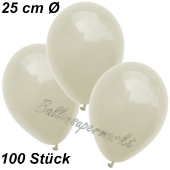 Luftballons 25 cm, Elfenbein, 100 Stück