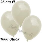 Luftballons 25 cm, Elfenbein, 1000 Stück