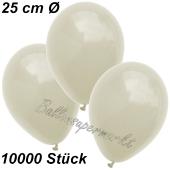 Luftballons 25 cm, Elfenbein, 10000 Stück
