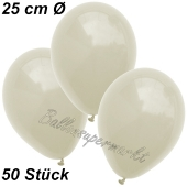 Luftballons 25 cm, Elfenbein, 50 Stück