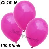 Luftballons 25 cm, Fuchsia, 100 Stück