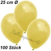 Luftballons 25 cm, Gelb, 100 Stück