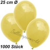 Luftballons 25 cm, Gelb, 1000 Stück