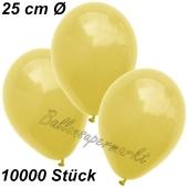 Luftballons 25 cm, Gelb, 10000 Stück