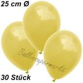 Luftballons 25 cm, Gelb, 50 Stück