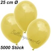 Luftballons 25 cm, Gelb, 5000 Stück
