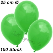 Luftballons 25 cm, Grün, 100 Stück