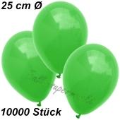 Luftballons 25 cm, Grün, 10000 Stück