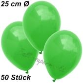 Luftballons 25 cm, Grün, 50 Stück