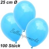 Luftballons 25 cm, Himmelblau, 100 Stück