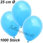 Luftballons 25 cm, Himmelblau, 1000 Stück