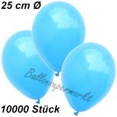 Luftballons 25 cm, Himmelblau, 10000 Stück