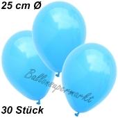 Luftballons 25 cm, Himmelblau, 30 Stück
