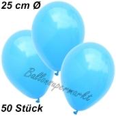 Luftballons 25 cm, Himmelblau, 50 Stück