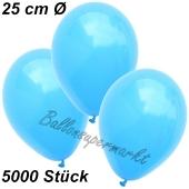 Luftballons 25 cm, Himmelblau, 5000 Stück