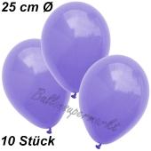 Luftballons 25 cm, Lila, 10 Stück