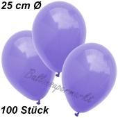 Luftballons 25 cm, Lila, 100 Stück