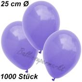 Luftballons 25 cm, Lila, 1000 Stück