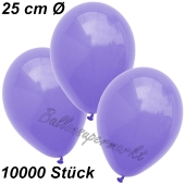 Luftballons 25 cm, Lila, 10000 Stück