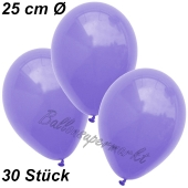 Luftballons 25 cm, Lila, 30 Stück